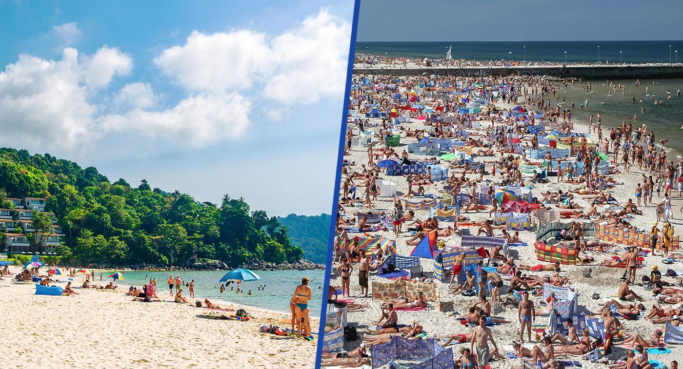 Plaże w Polsce i w Tajlandii