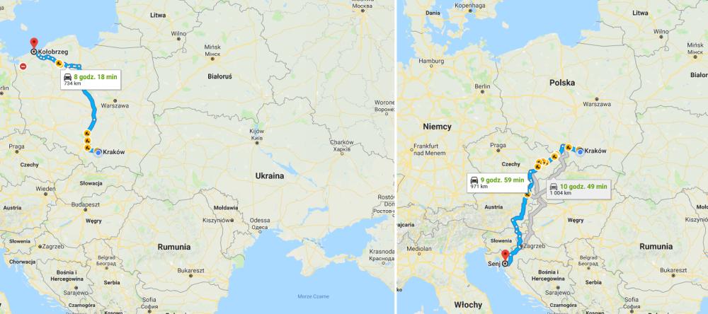 Mapa drogowa Google