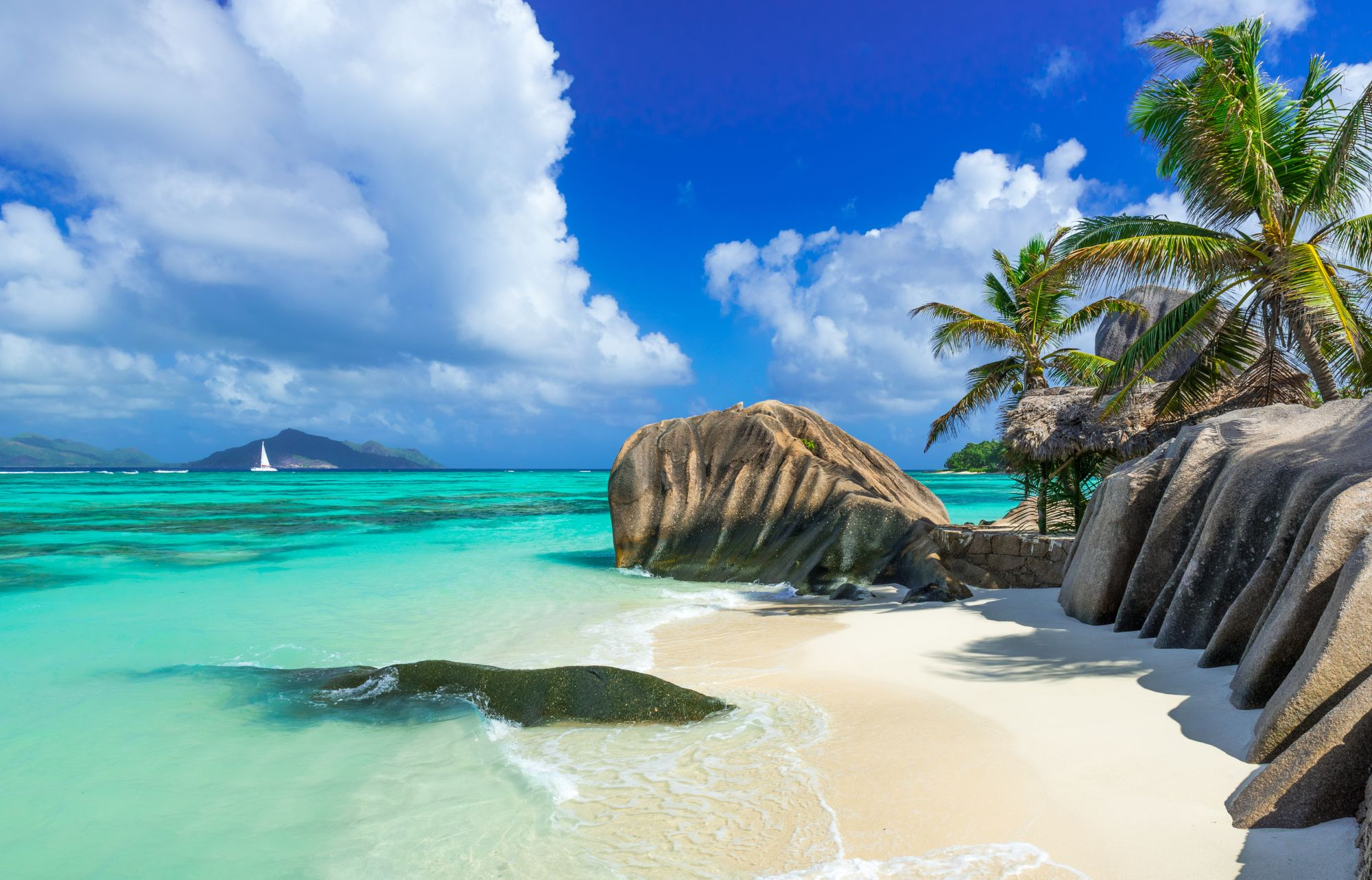 Seszele panorama plaży