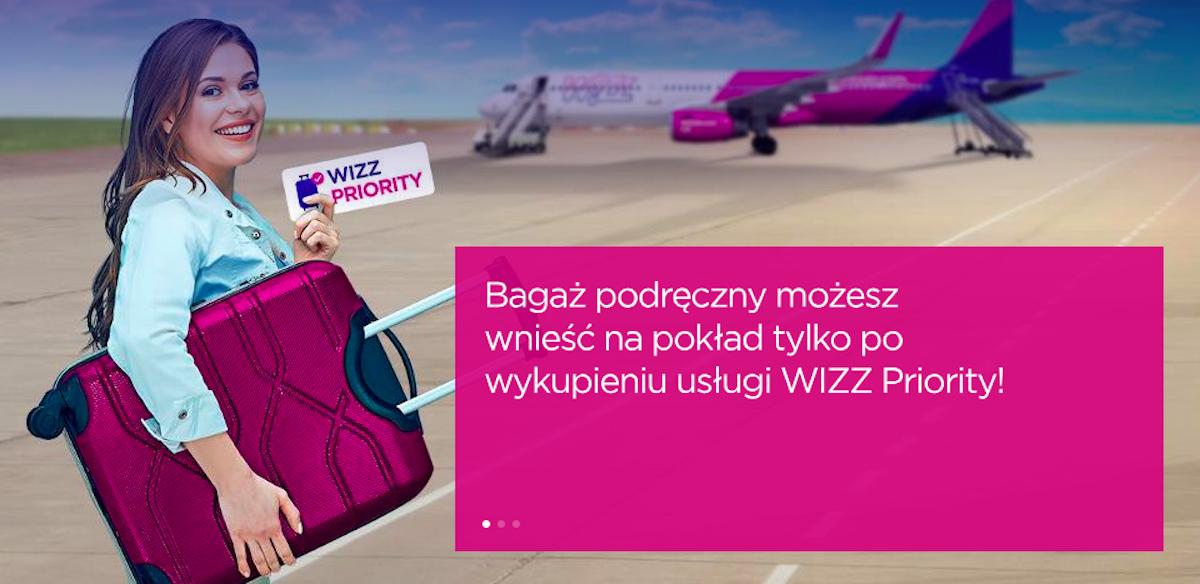 Zmiana polityki bagażowej Wizz AIr