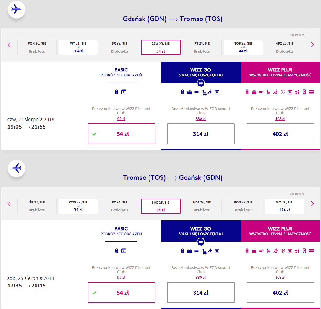 rezerwacja lotów z gdańska do tromso