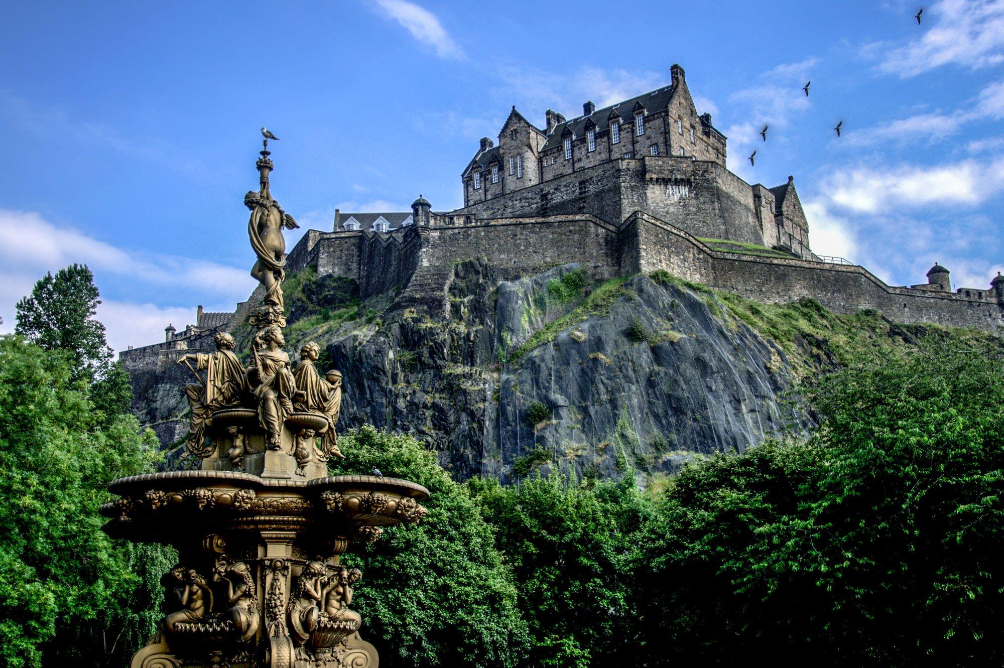 Edynburg widok zamku