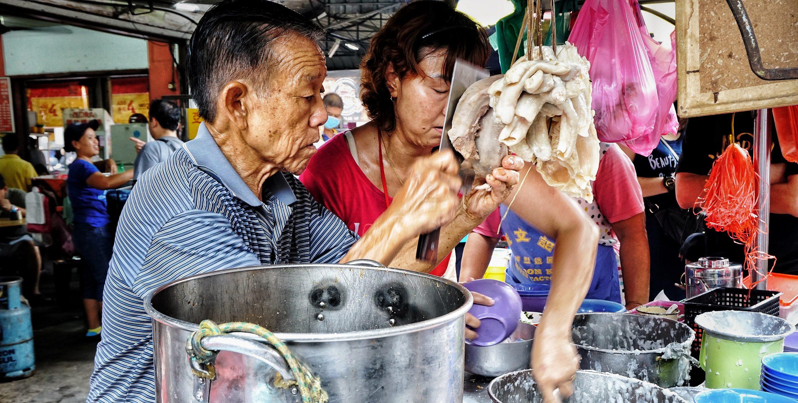 sprzedawcy uliczne jedzenie penang