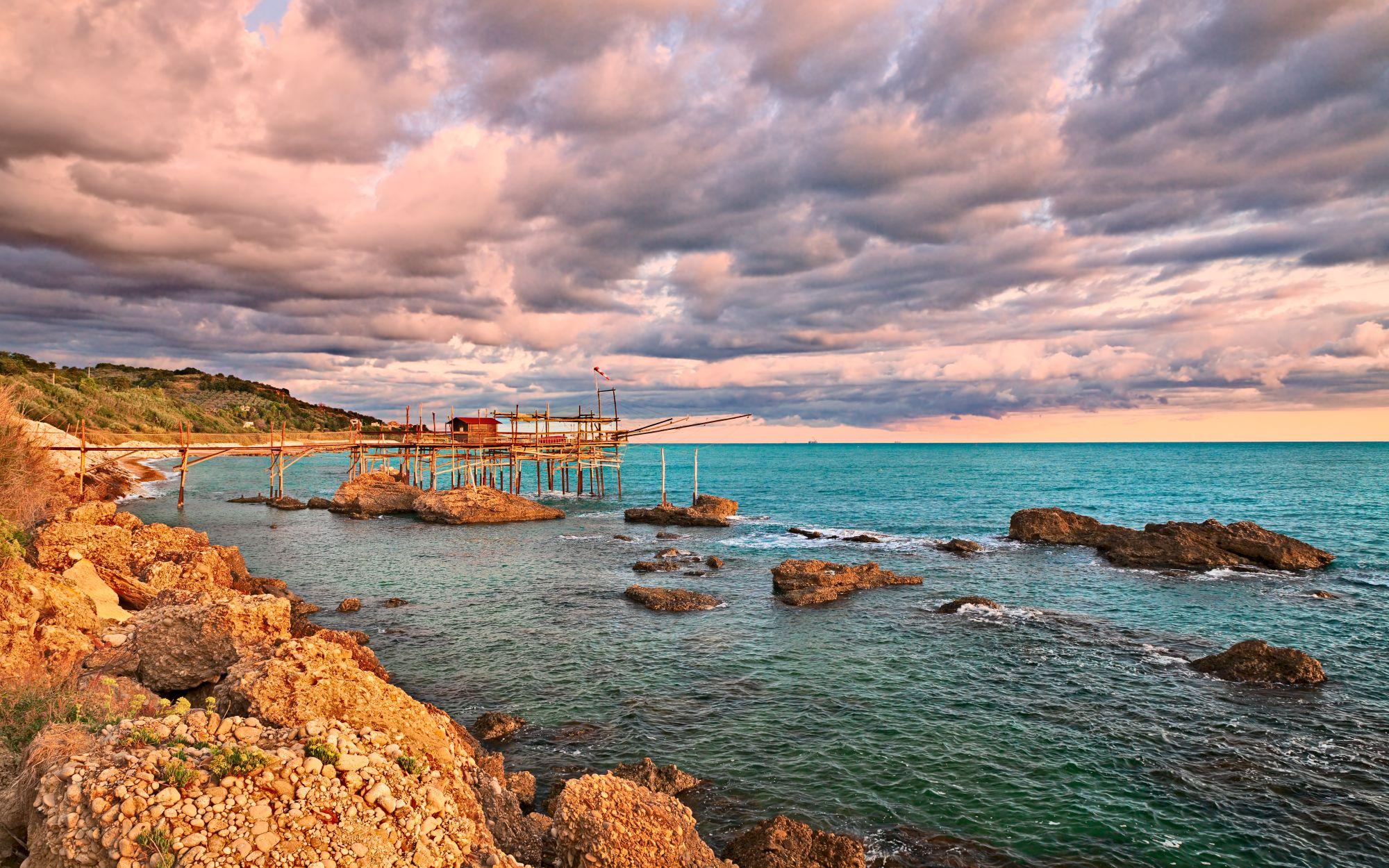 Abruzja widok wybrzeża