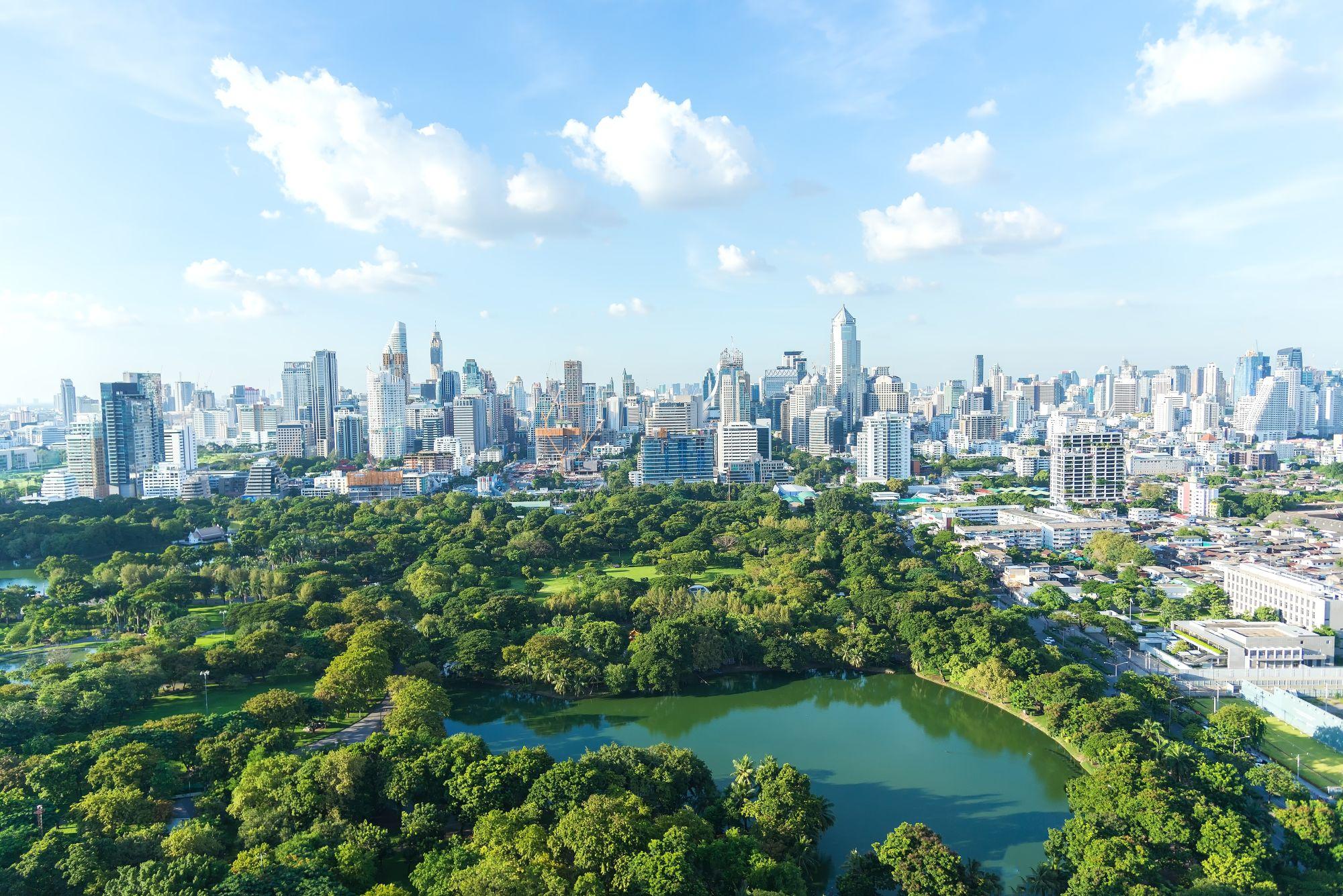 Bangkok panorama miasta