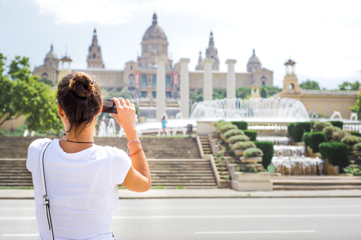 Barcelona widok na plac