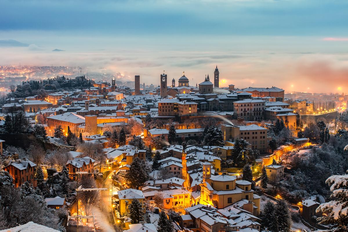 Bergamo zimą