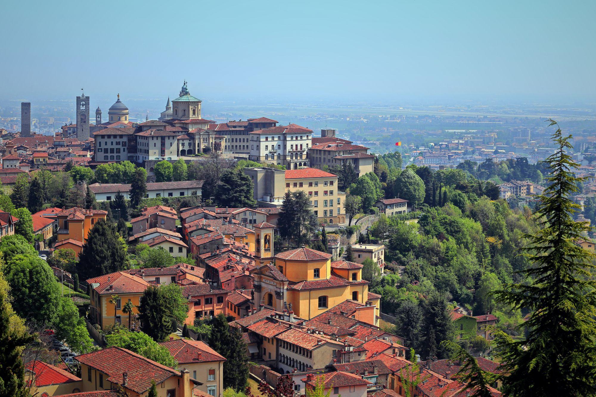 Bergamo panorama miasta