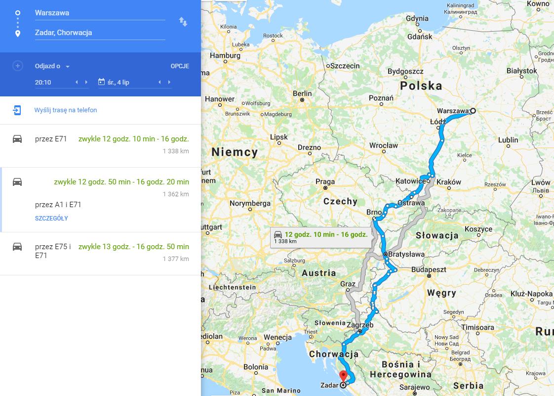 Dojazd do Chorwacji samochodem