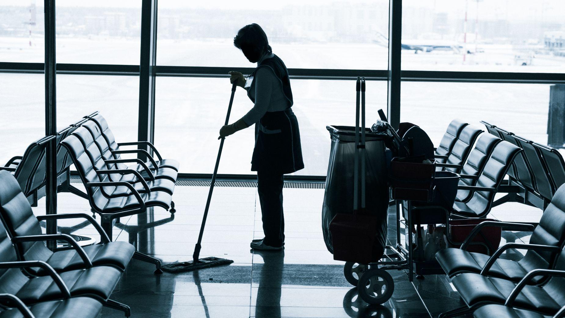 Sprzątanie na lotnisku