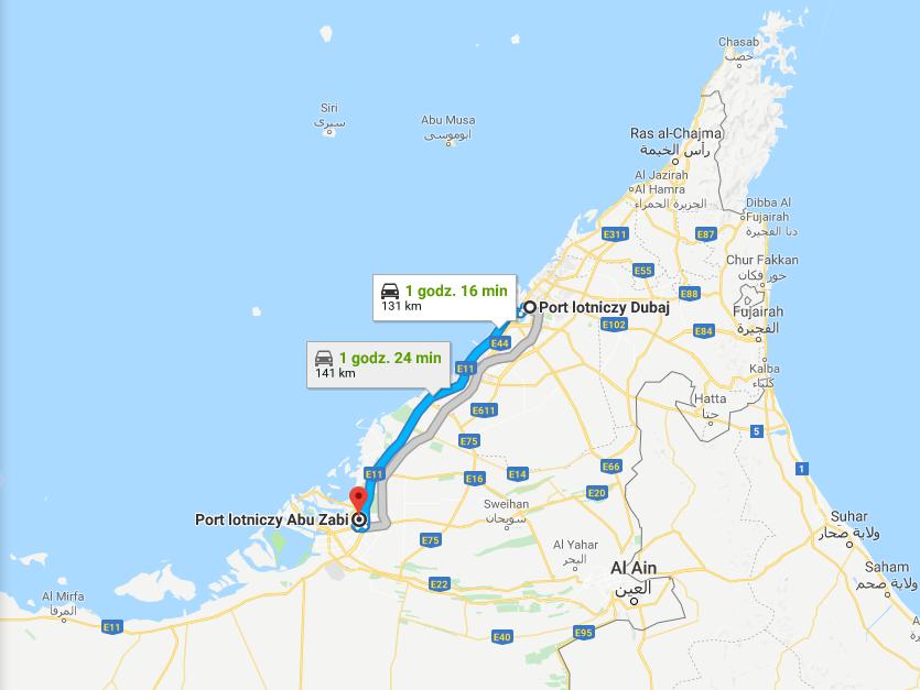 Porty lotnicze w Dubaju i Abu Zabi