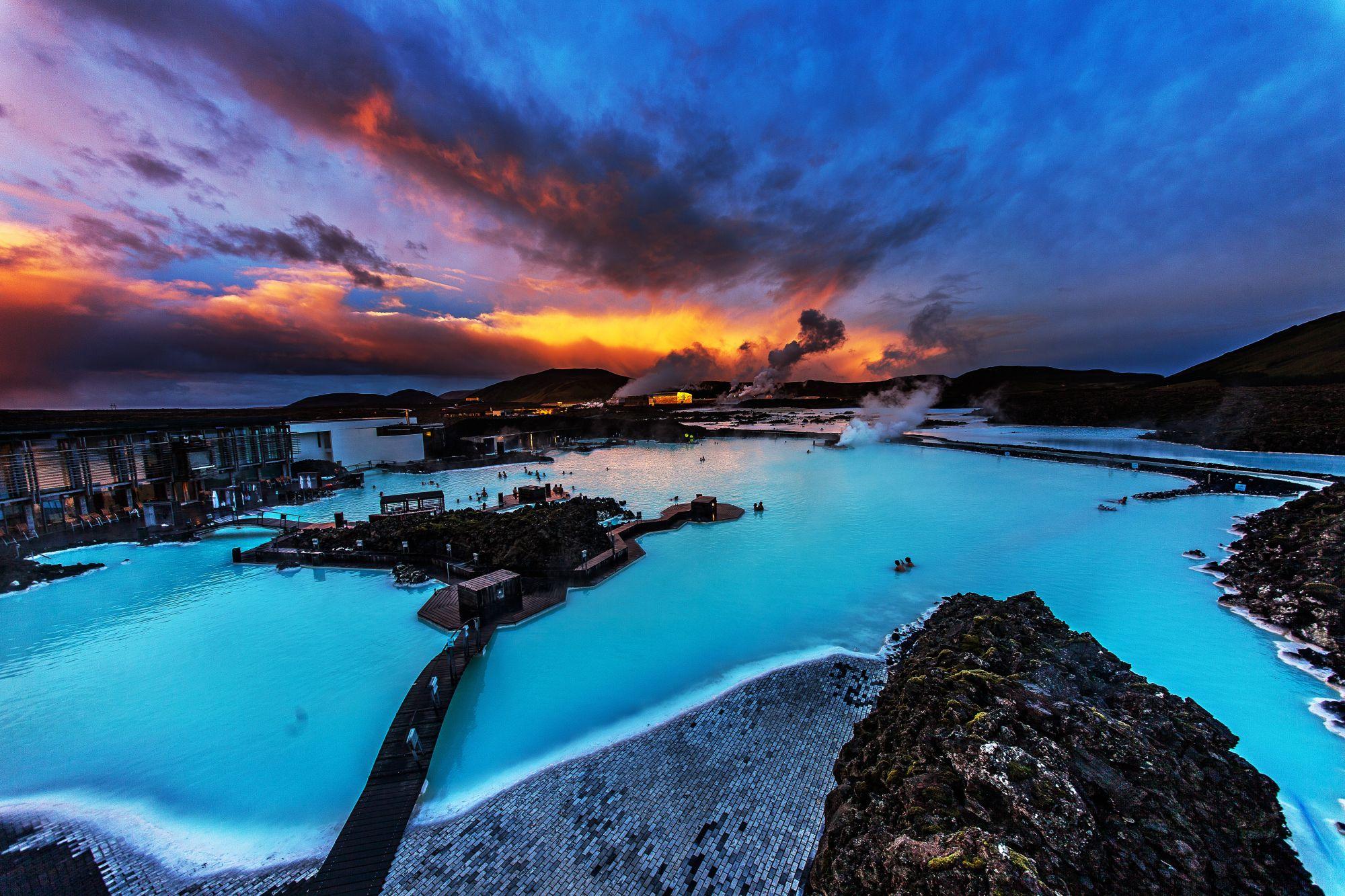 Islandia widok Blue Lagoon