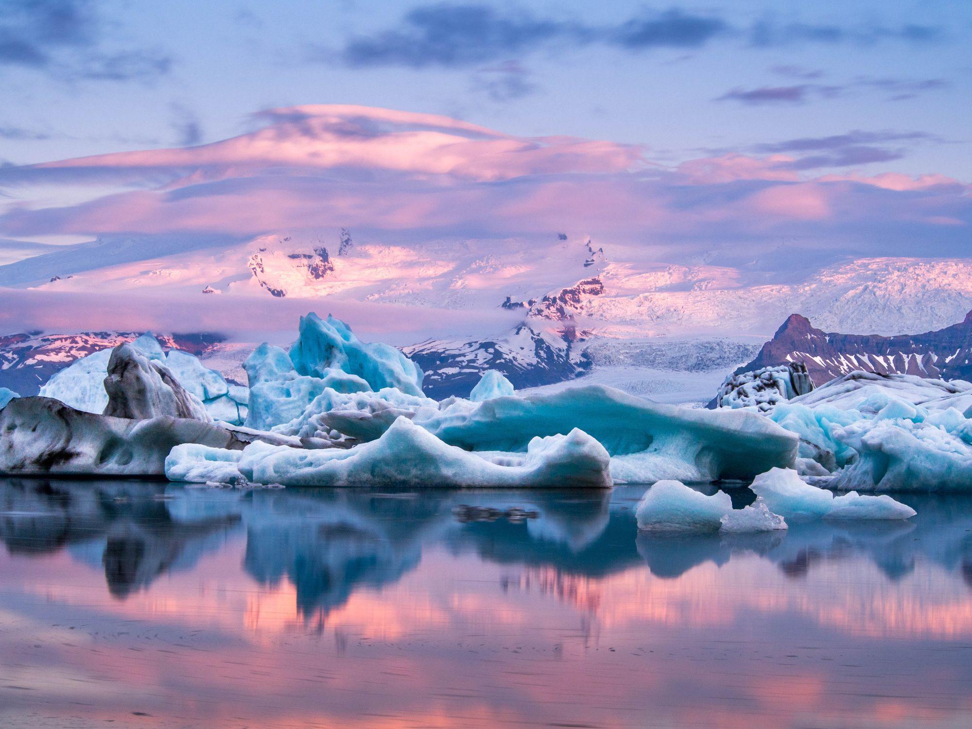 Islandia widok lodowca