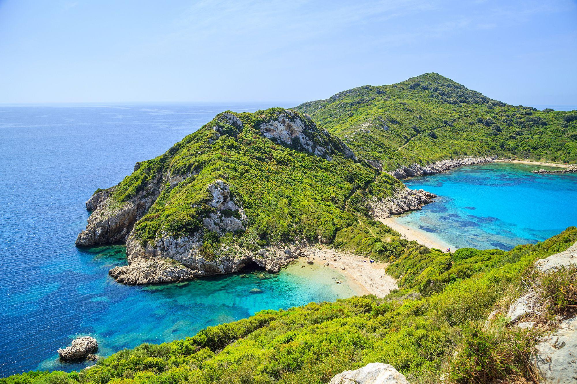Korfu widok wybrzeża