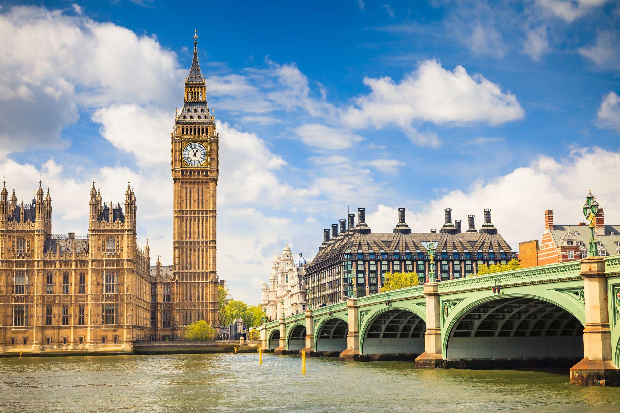 Londyn widok zegara