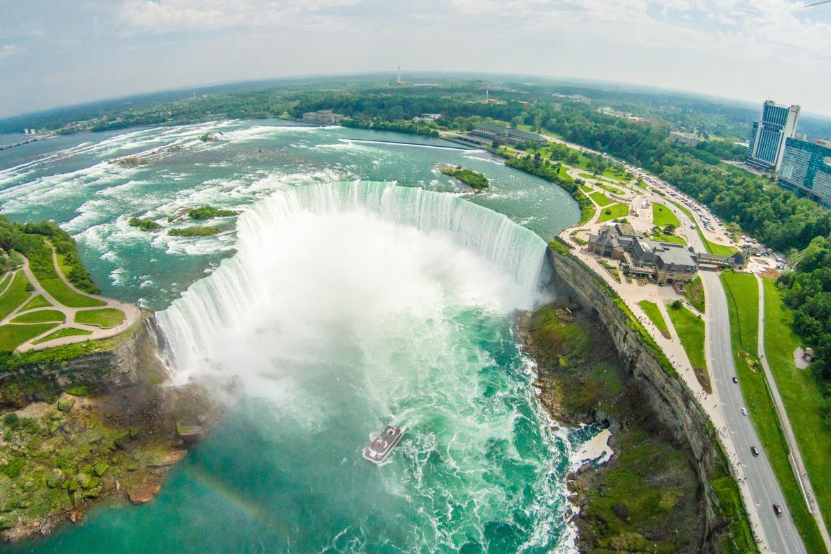 Wodospad niagara z powietrza