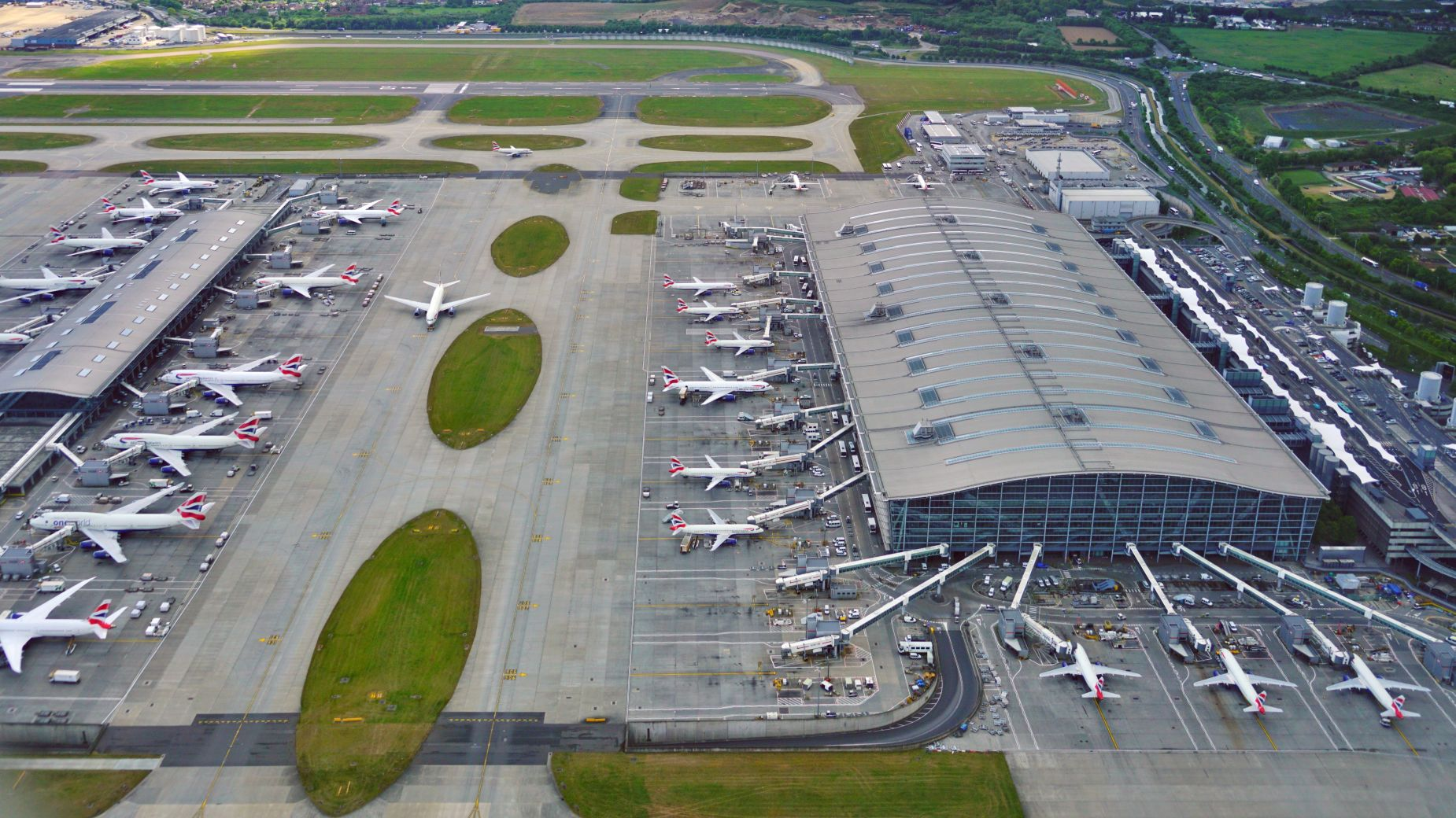 Samoloty na Heathrow