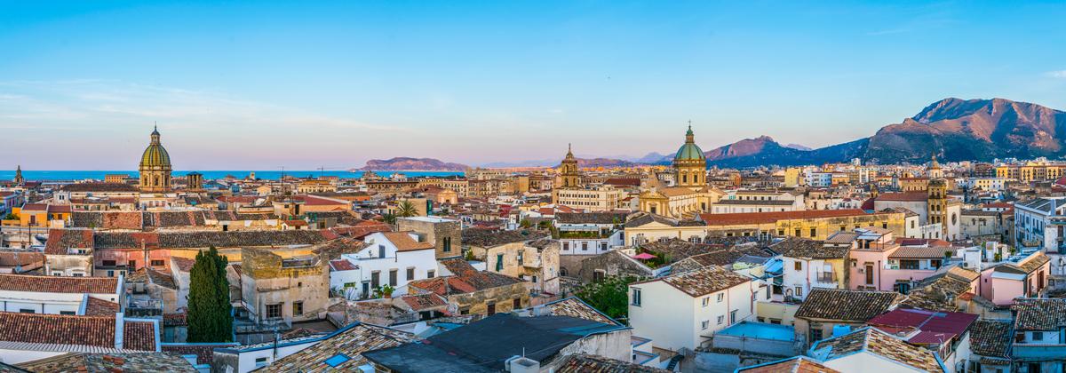 palermo panorama miasta