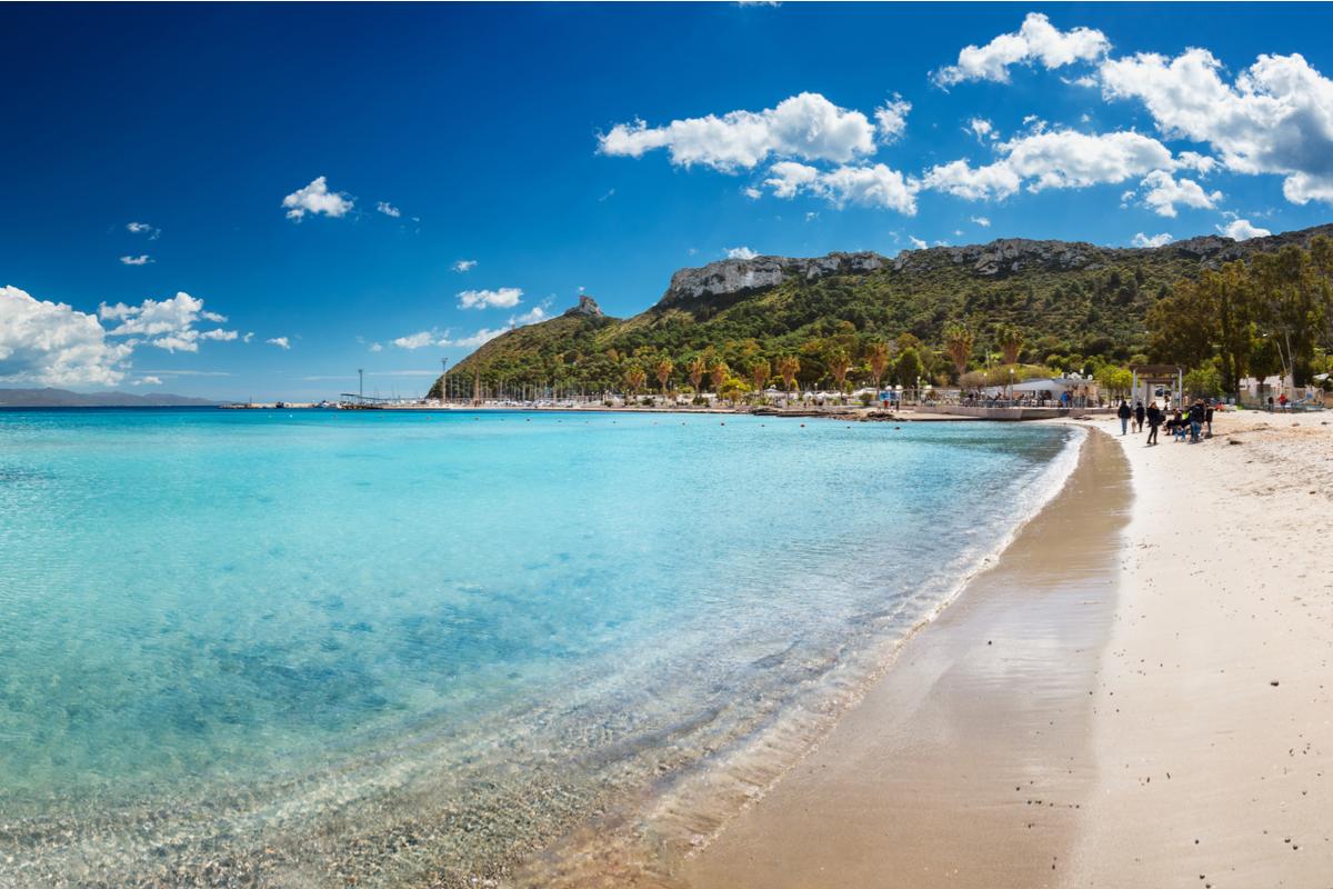 Cagliari Poetto plaża