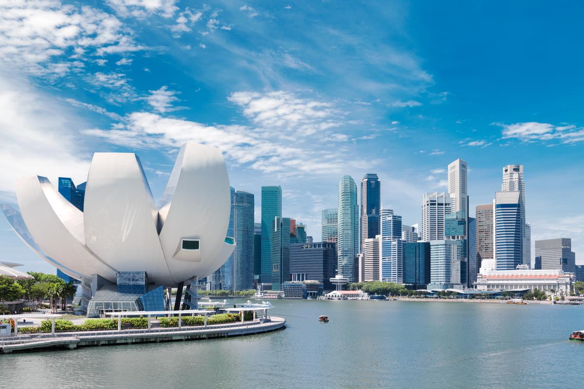 Singapur zatoka widok