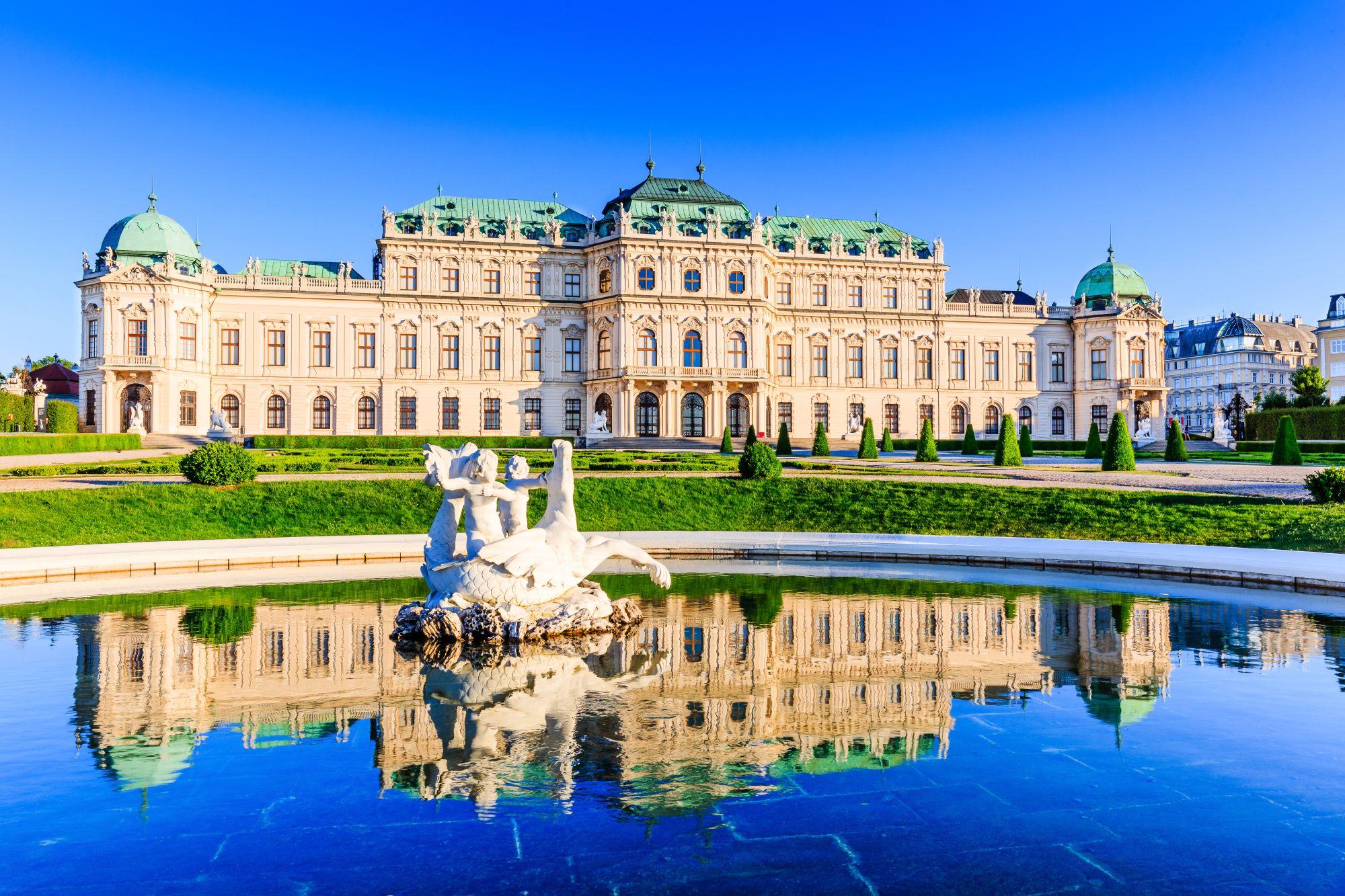 Wiedeń widok pałacu