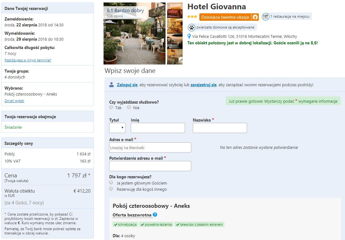 hotel giovanna toskania