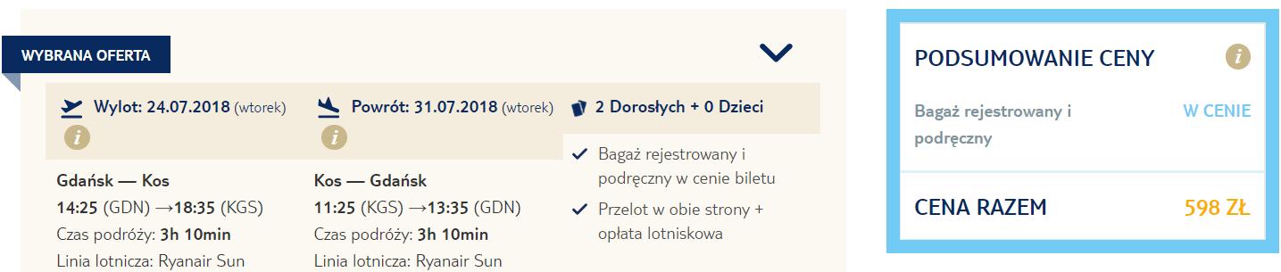 rezerwacja lotów z gdańska na kos