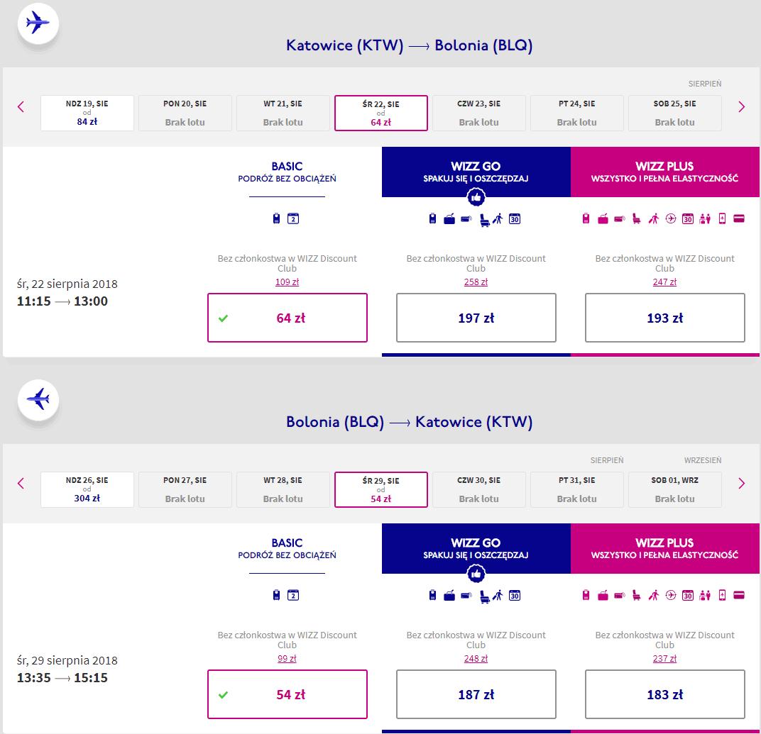 rezerwacja lotów z katowic do bolonii