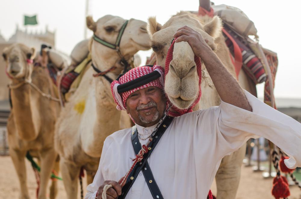 arab z wielbłądem