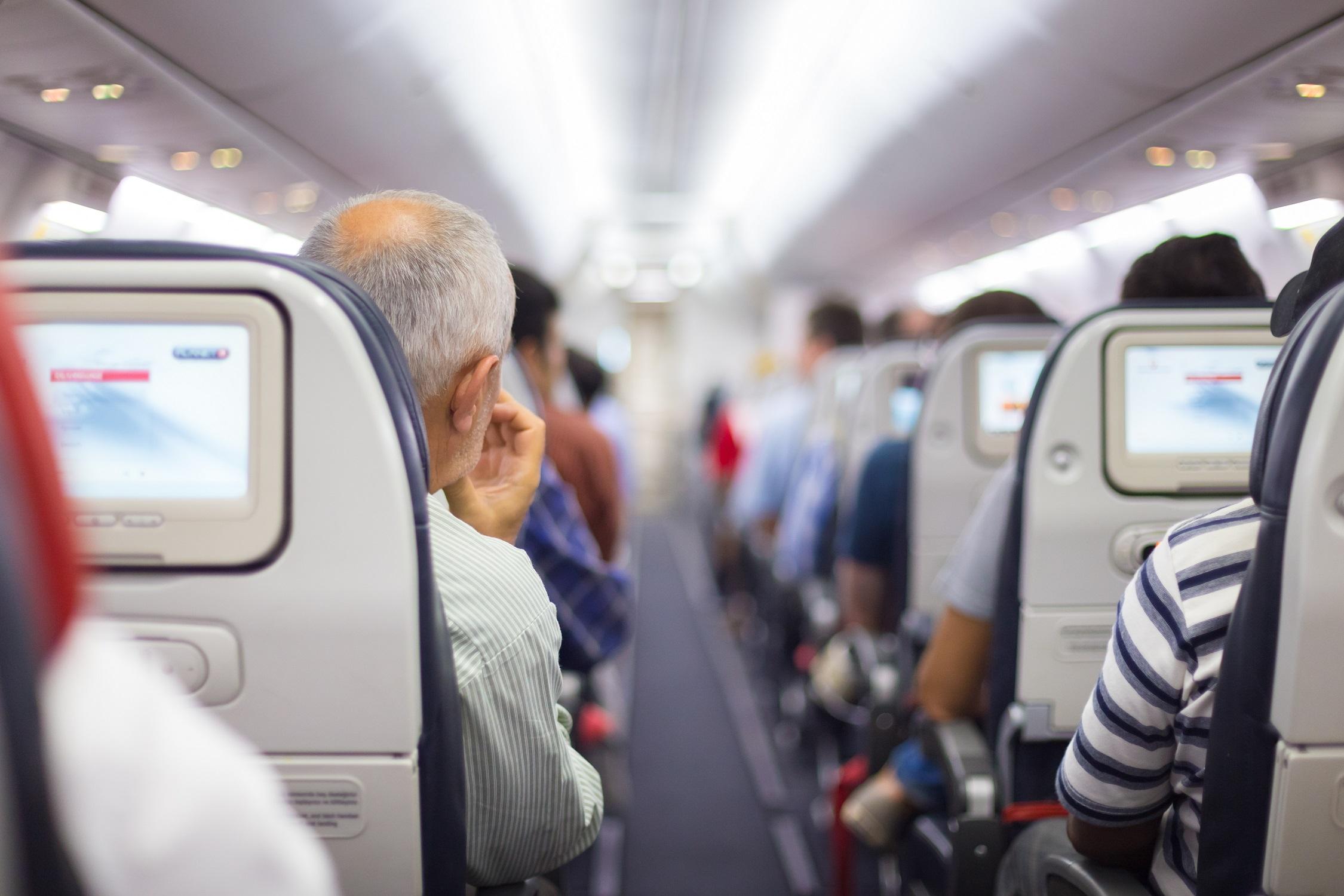 siedzenia w samolocie