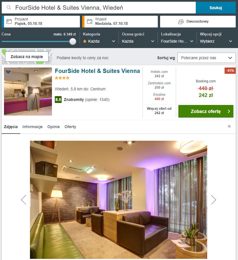 wiedeń hotel