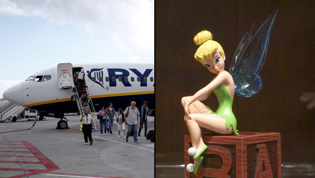 Bajkowa postać w samolocie