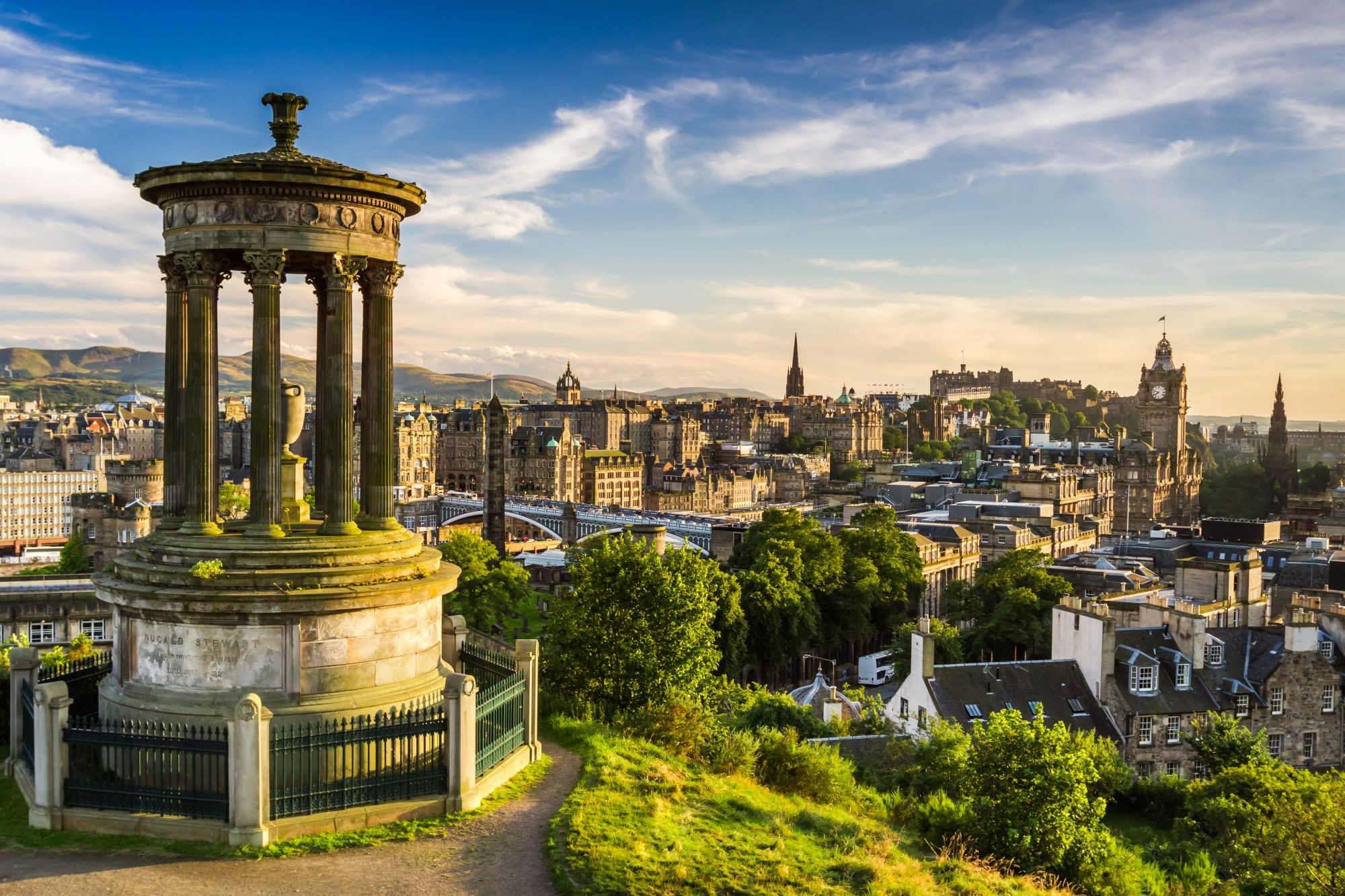Edynburg widok miasta