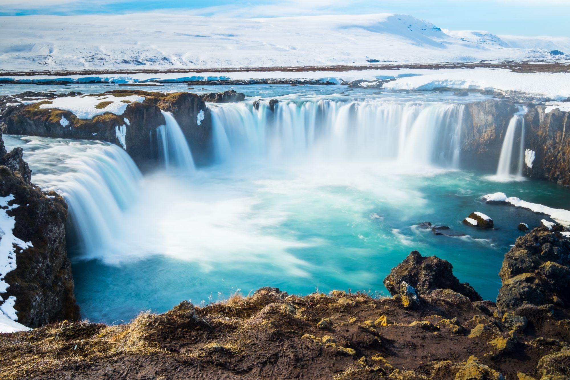 Islandia widok wodospadu