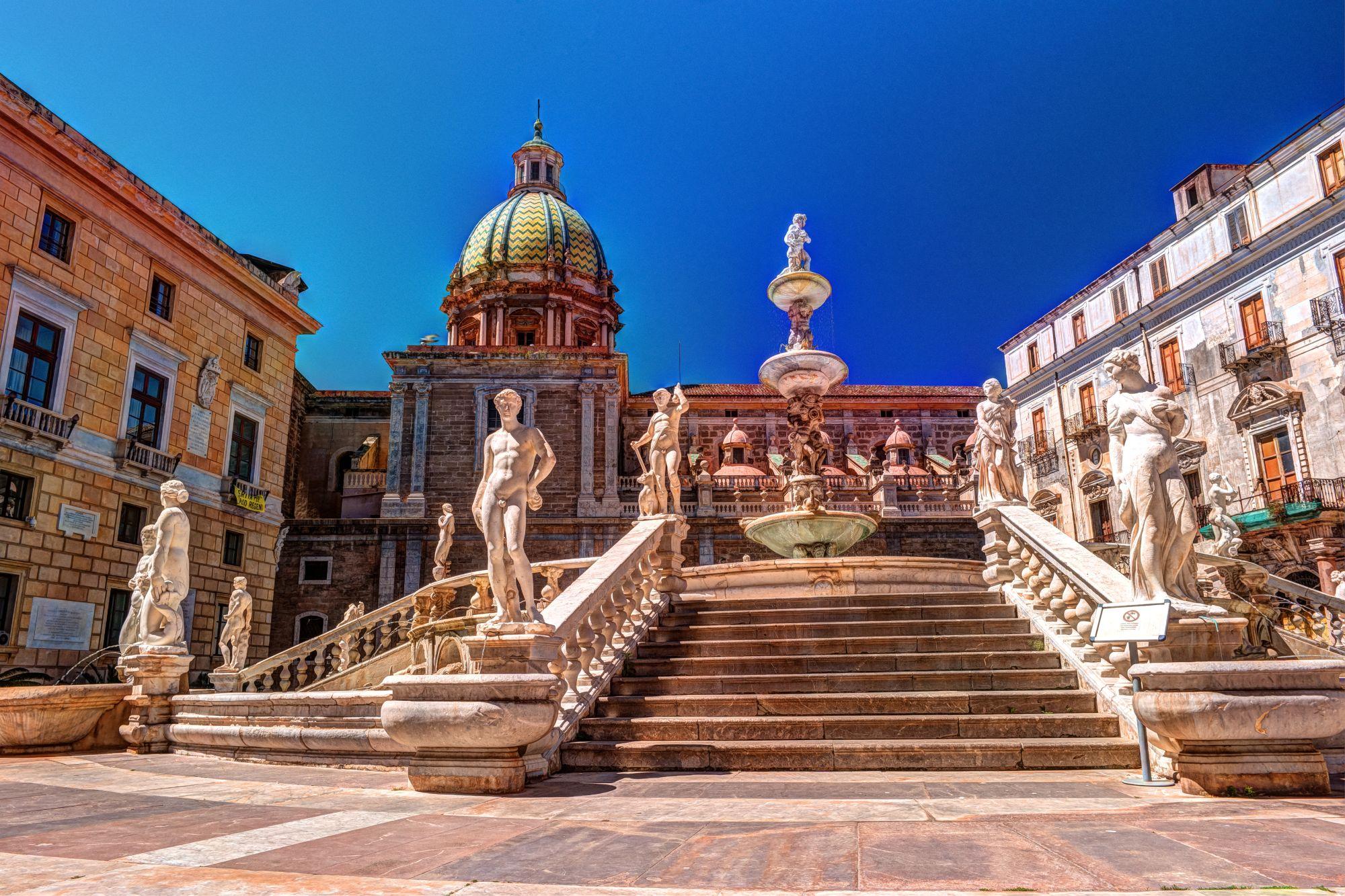 Palermo widok placu