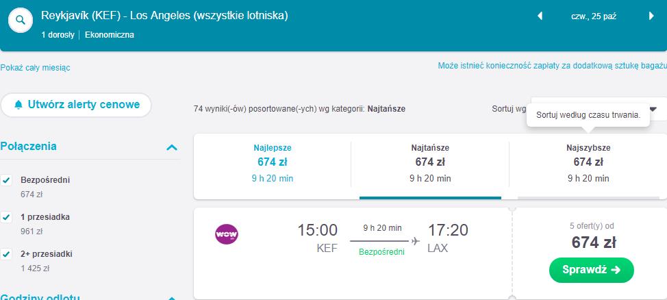Rezerwacja przelotów do Reykjaviku