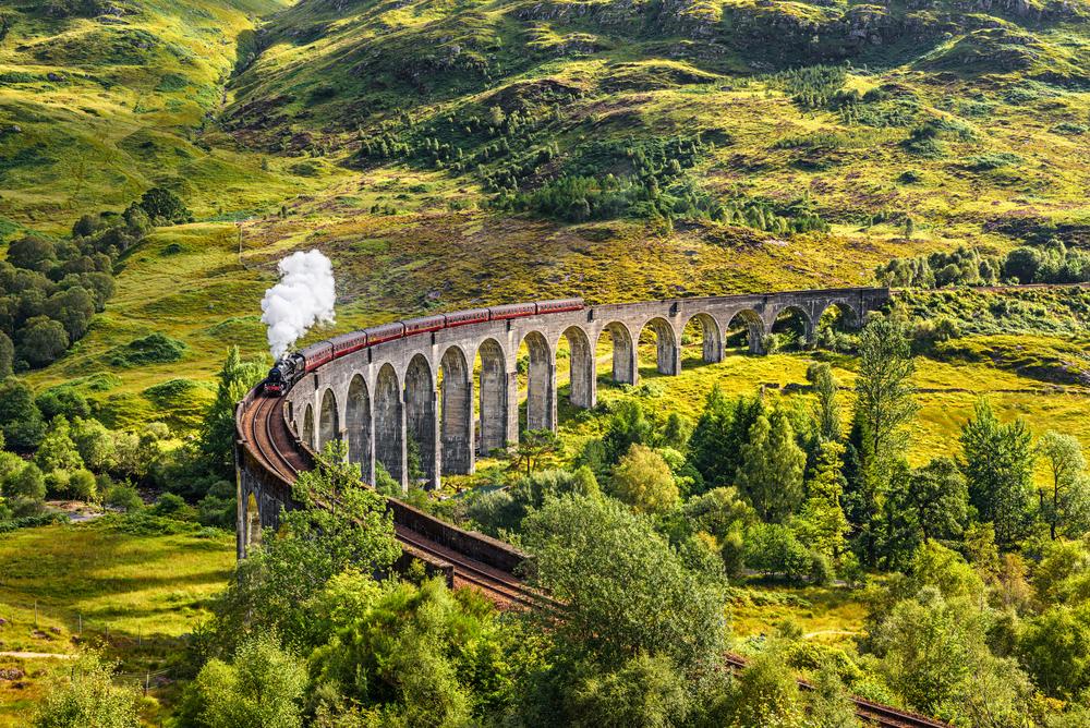 szkocja hogwart express