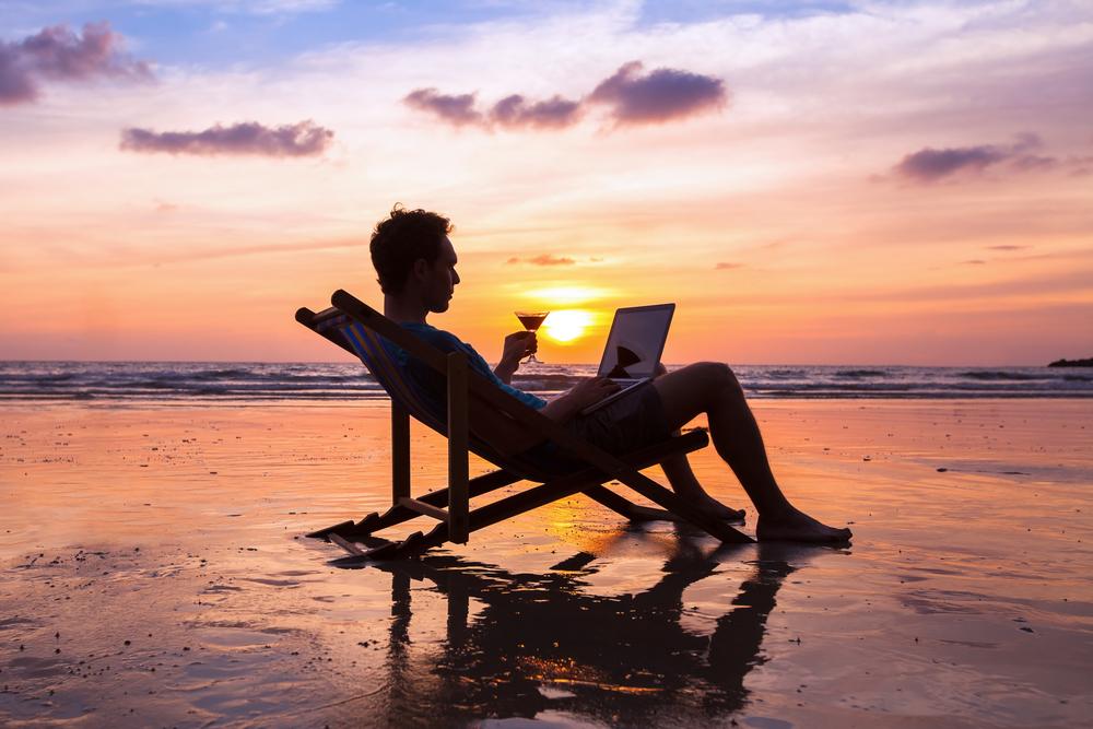 praca na plaży