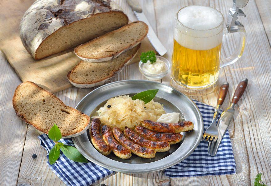piwo i kiełbaski norymberskie