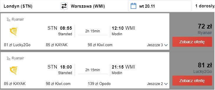 Rezerwacja przelotów do Warszawy