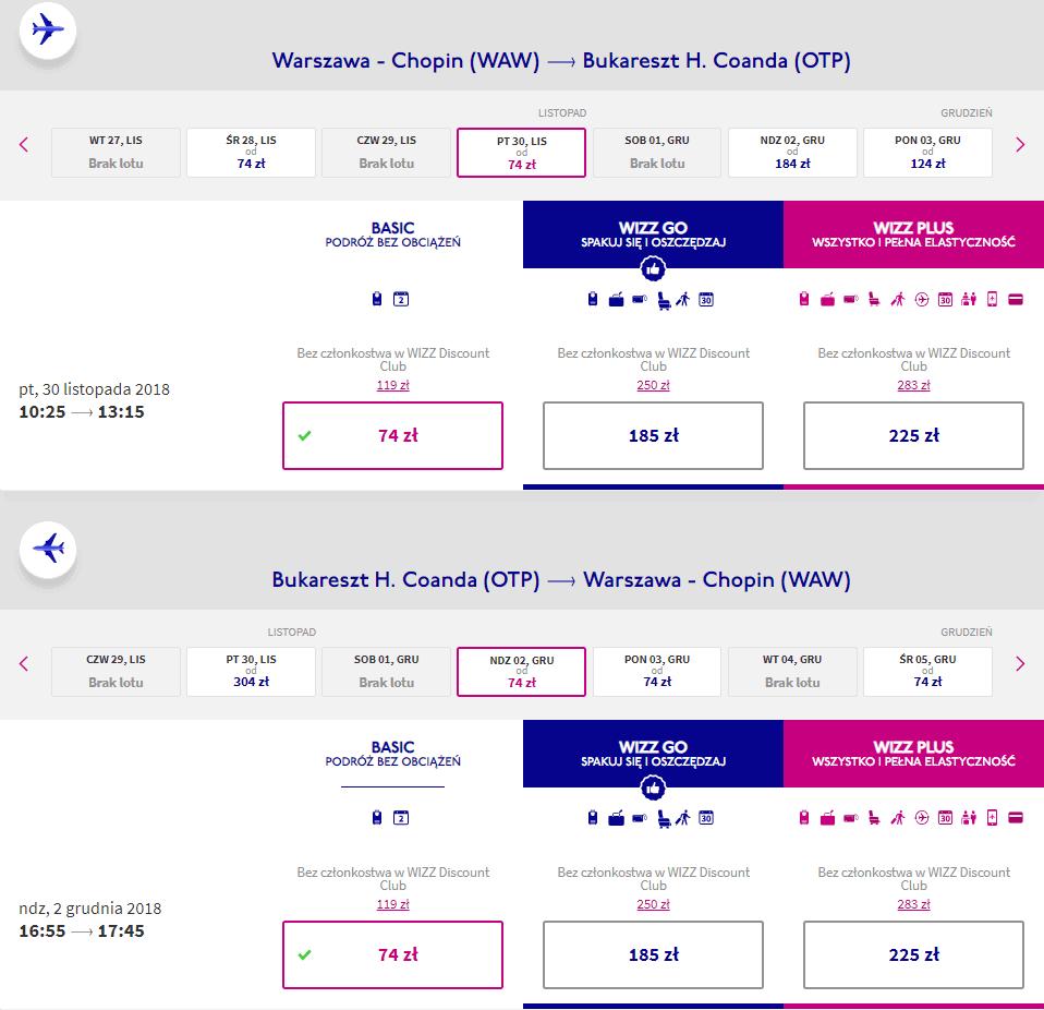 rezerwacja lotów z warszawy do bukaresztu