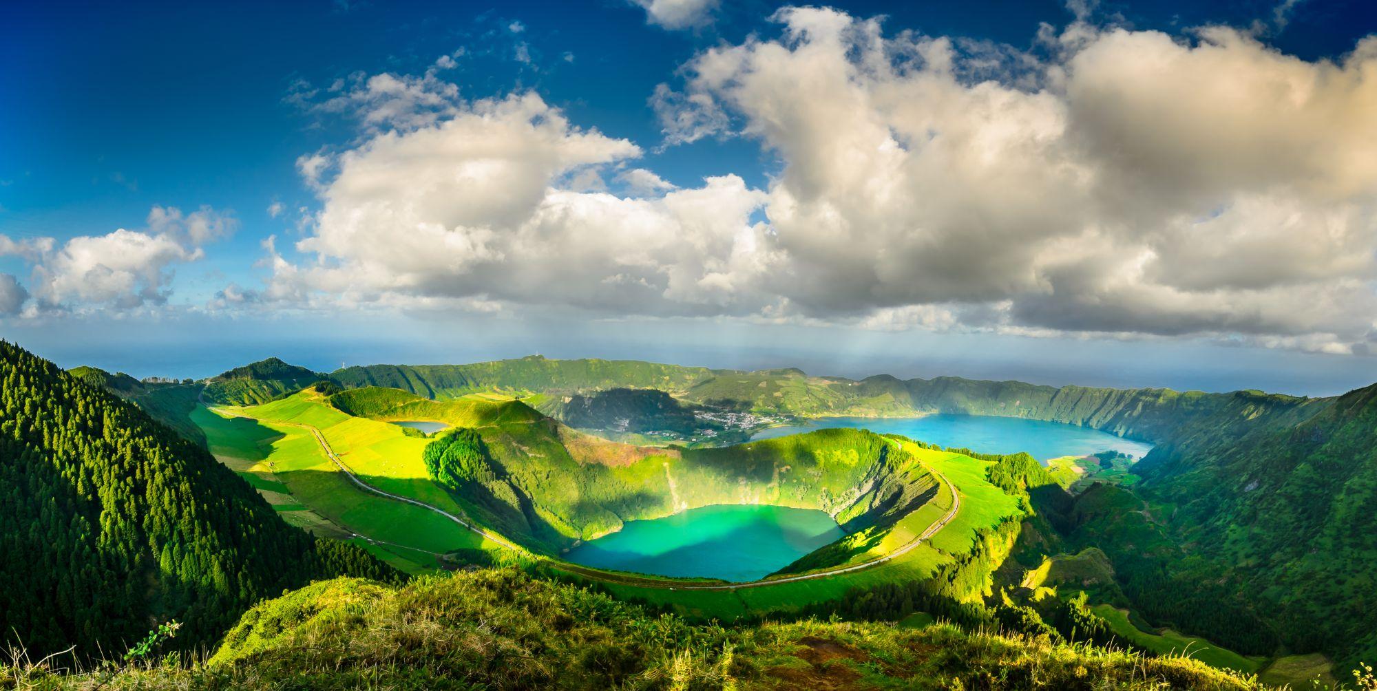 Azory panorama jezior