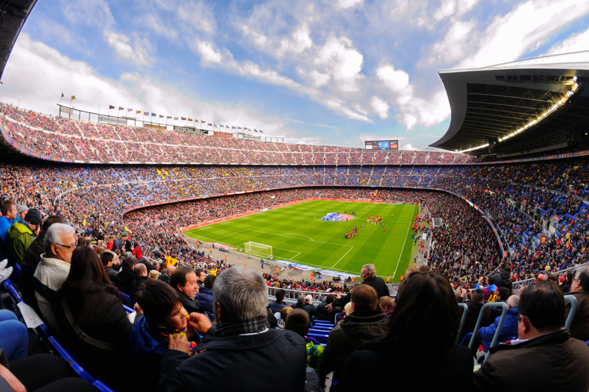 Stadion piłkarski w barcelonie