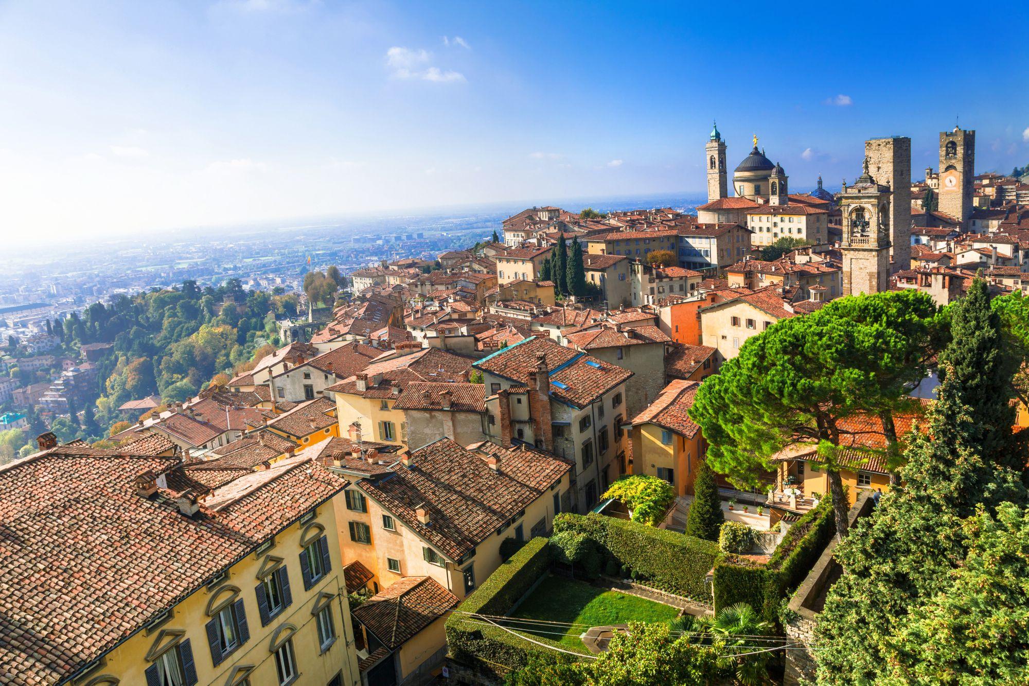Bergamo widok miasta