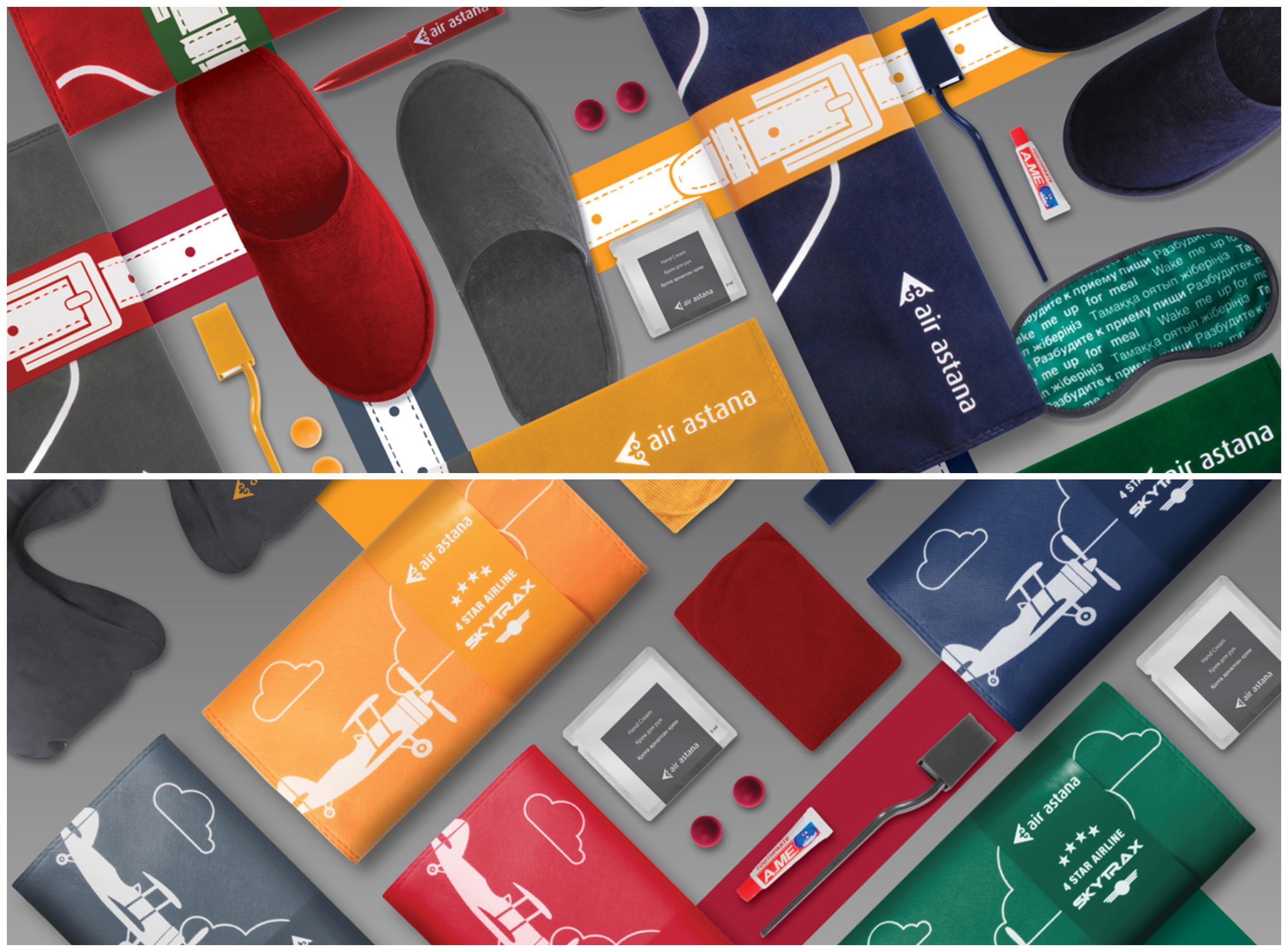 air astana zestaw dla pasażera