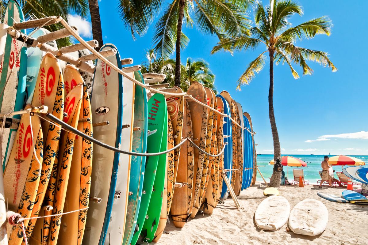 plaża na Hawajach