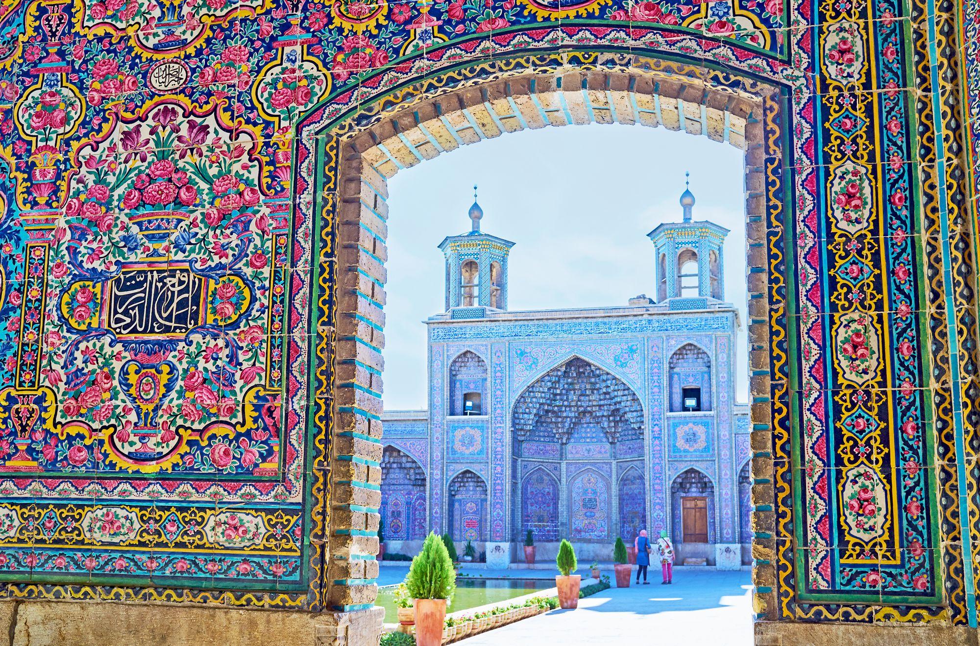 Iran mozaika i meczet