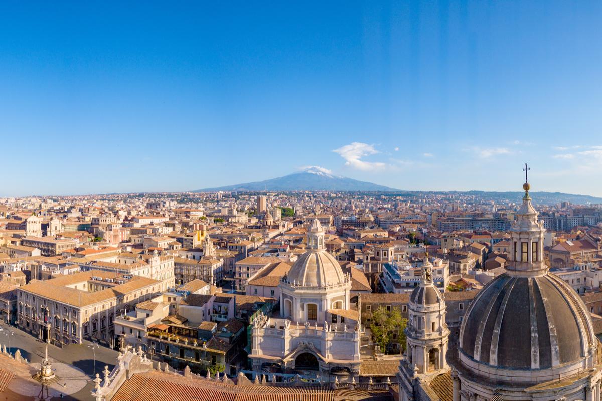 Katania panorama miasta