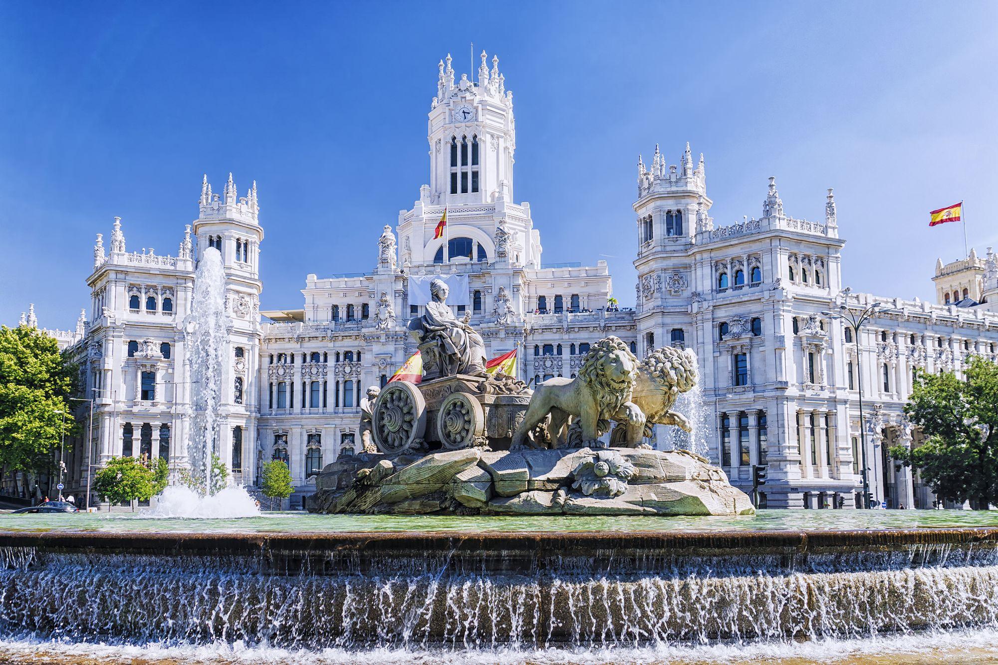 Madryt widok fontanny