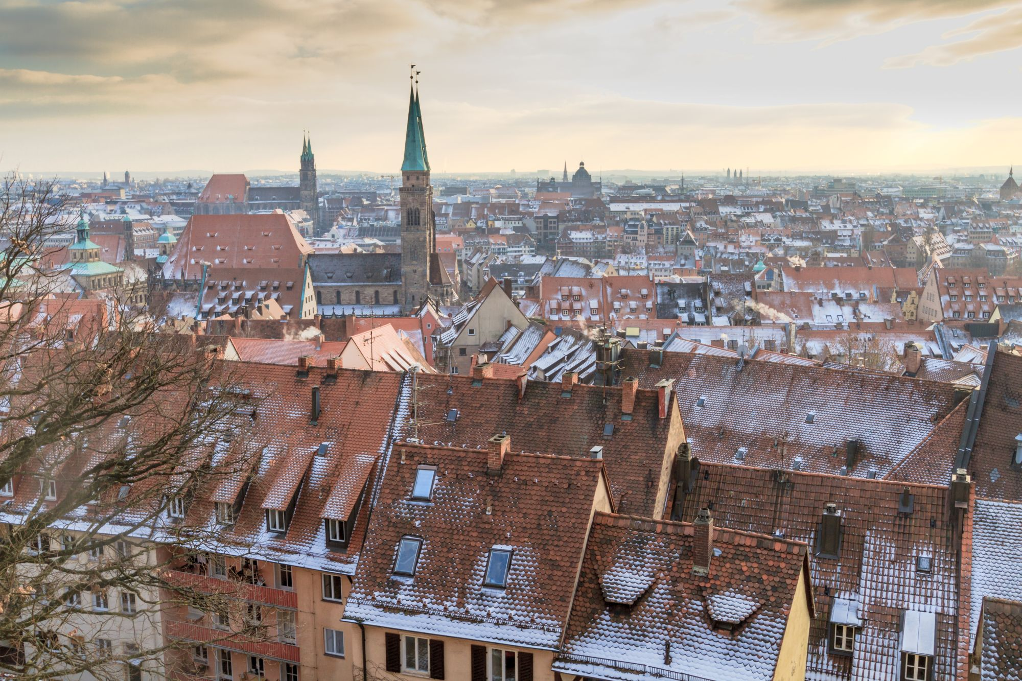 Norymberga miasto zimą